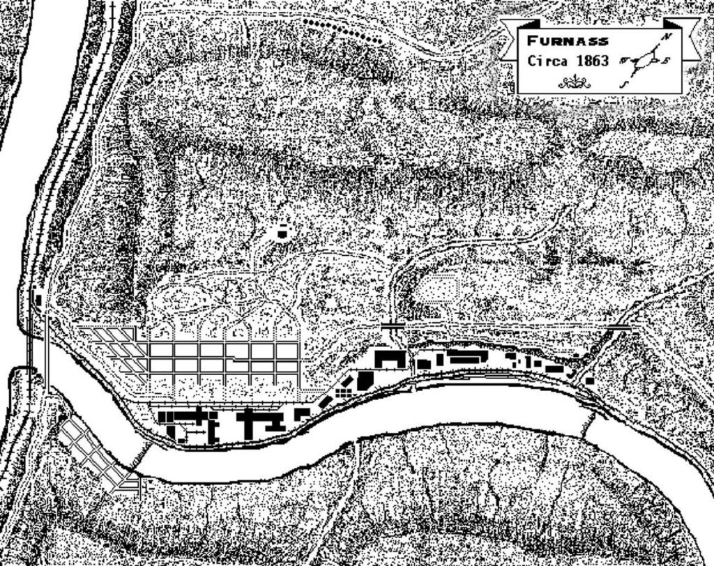 1863 Map with Legend